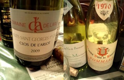 2009クロ・ド・ラルロと1970ポマール.jpg