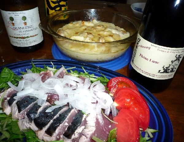 カツオのコンロ焼とシーフードドリア.jpg