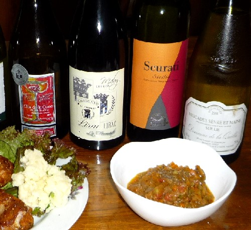 キーマカレーとワイン.jpg