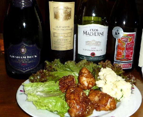 タンドリーチキンとワイン.jpg