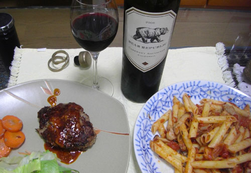 ハンバーグと赤ワイン.jpg