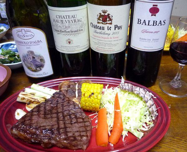 ランプ肉のステーキと赤ワイン.jpg