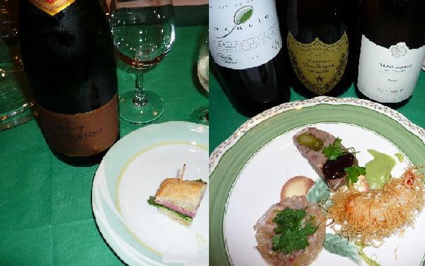 レジーナ神の雫会前菜とワイン.jpg