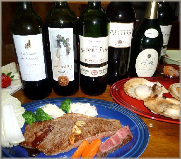 牛ステーキと偉大な赤ワイン.jpg