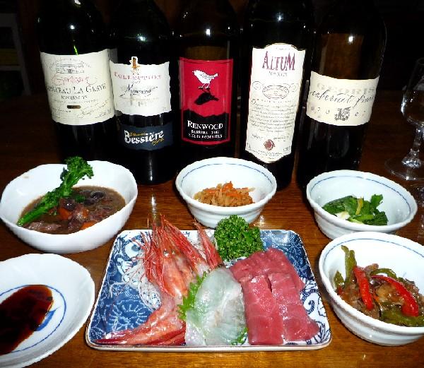 刺身と牛の赤ワイン煮.jpg
