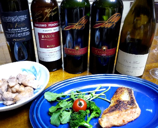 素晴らしいワインと深夜の夕飯.jpg