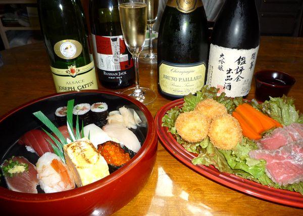誕生日寿司シャンパン.jpg