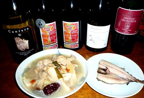 鳥の薬膳スープとサンマ.jpg