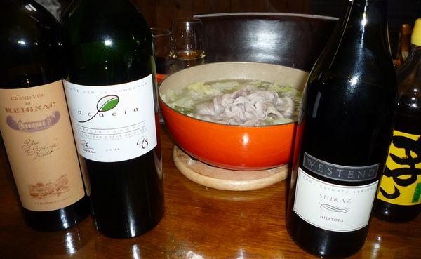 豚の水炊きとワイン.jpg