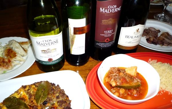 南アフリカワインと料理.jpg