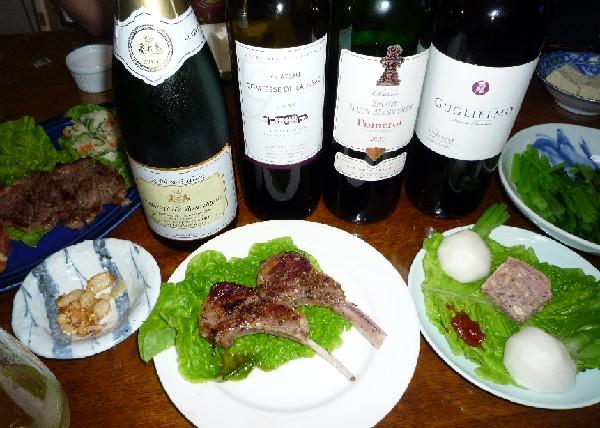 頒布会のワインとお肉.jpg