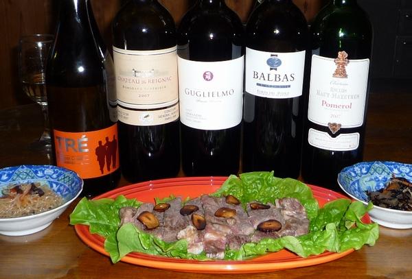 頒布会のワインと牛.jpg