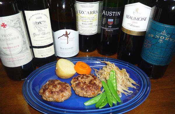 野菜たっぷりハンバーグと赤ワイン.jpg