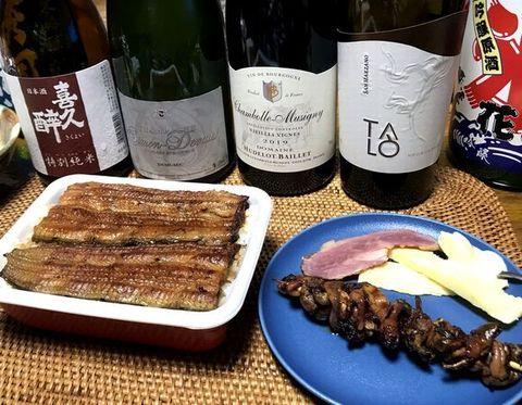 うないちさん鰻重とワイン.jpg