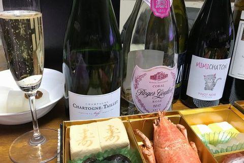 おせちとシャンパン・シャルトーニュ・タイエ.jpg