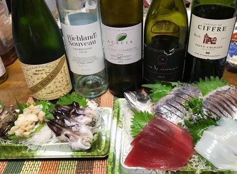 お刺身と白ワイン&シャンパン.jpg