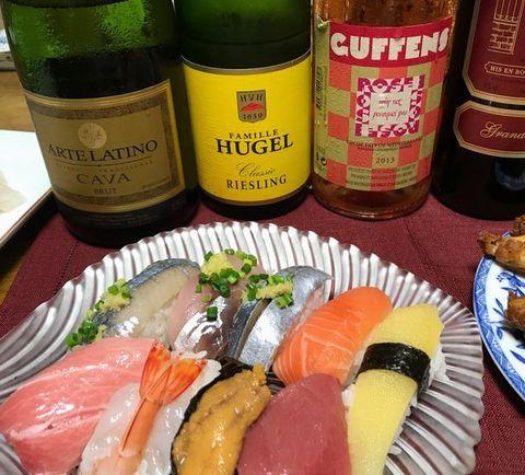お寿司とアルザスリースリング.jpg