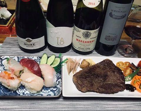 お寿司とランプステーキ.jpg