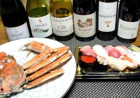 カニとお寿司ワインのマリアージュ.jpg