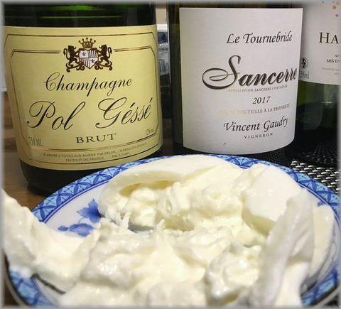 サンセールとシャンパン、ブラータ.jpg