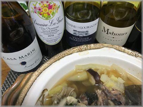 スッポン鍋とワイン.jpg