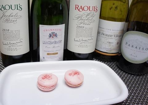 マカロンとシャンパンワイン.jpg