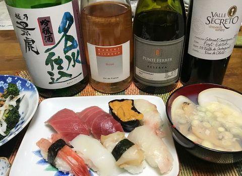 マルセルリショーロゼとお寿司.jpg