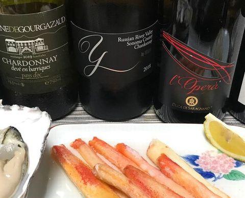 ヨシキワイン・ロシアン・リヴァー・ヴァレーと蟹.jpg