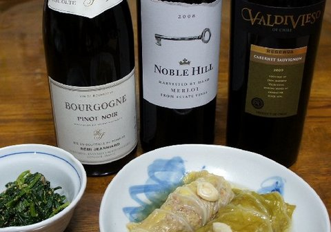 ロールキャベツと赤ワイン.jpg