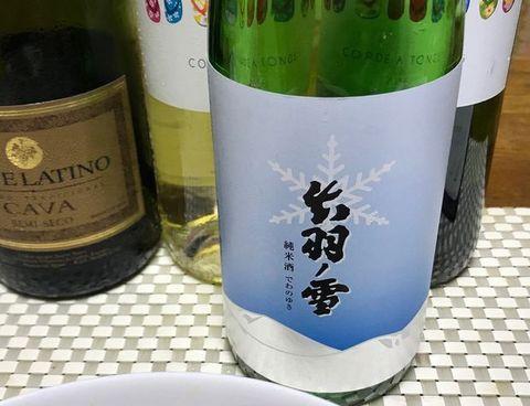 出羽ノ雪 純米酒とブイヤベース.jpg