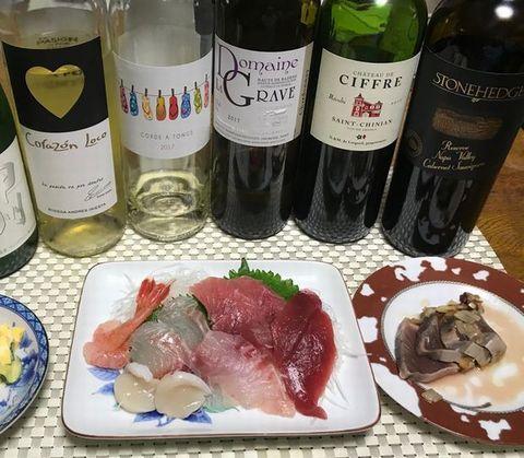 刺身とワイン、イニエスタ.jpg