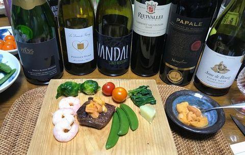 塩水ウニとステーキ、チーズフォンデュ.jpg