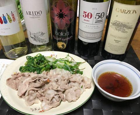平田牧場の豚シャブとワイン.jpg