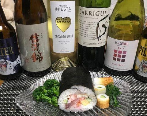 恵方巻とワイン.jpg