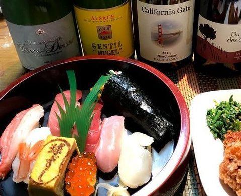 母の日に球寿司さんとワイン.jpg