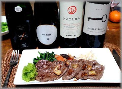 焼肉とワイン。ノーブルヒル・カベルネ.jpg