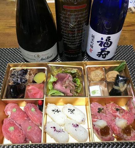 牛肉寿司とワイン.jpg