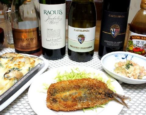 牡蠣グラタンとワイン.jpg