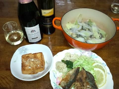 牡蠣鍋とシャンパン.jpg