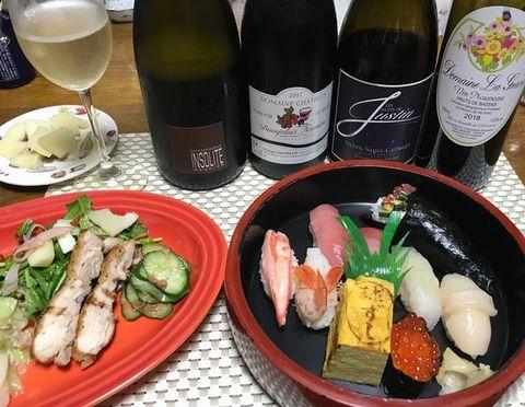 球寿司とシャンパン、ヌーボ.jpg