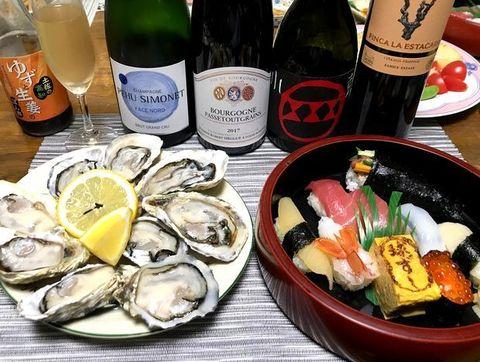 生牡蠣、球寿司、シャンパーニュ.jpg
