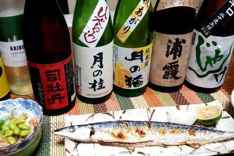 秋刀魚と日本酒浦霞.jpg