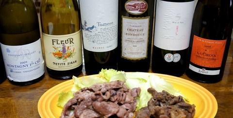 羊のハーブ焼きとワイン.jpg