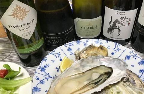 蒸し牡蠣とパッソ&クレマン・ブルゴーニュ.jpg