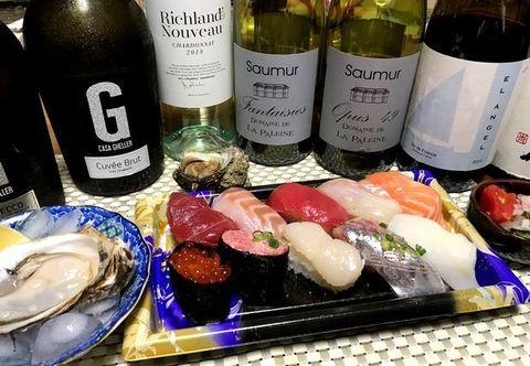 角上のお寿司とソミュール・ブラン.jpg