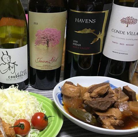 豚の角煮とワイン.jpg