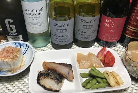 魚の粕漬けとワイン.jpg