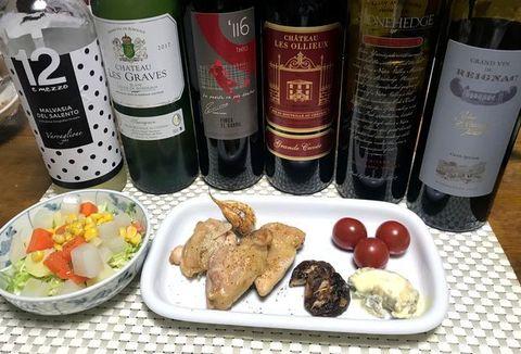鳥肉とヘビーな赤ワイン.jpg